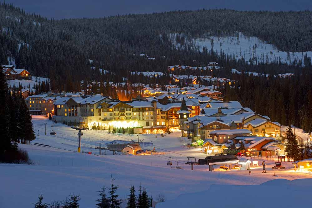 Sun Peaks/Village at night