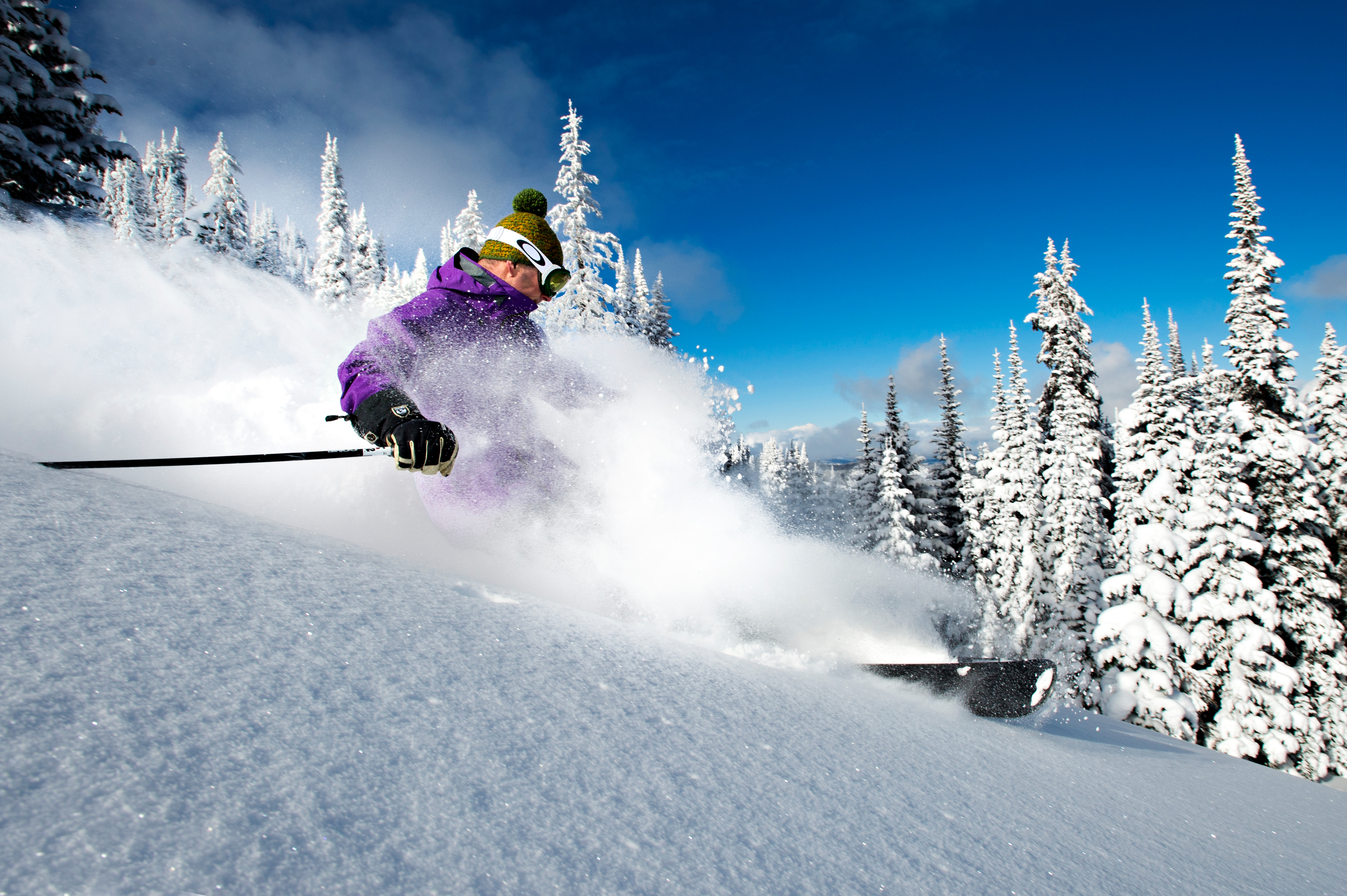 Sun Peaks/Skiing/Powder Trees