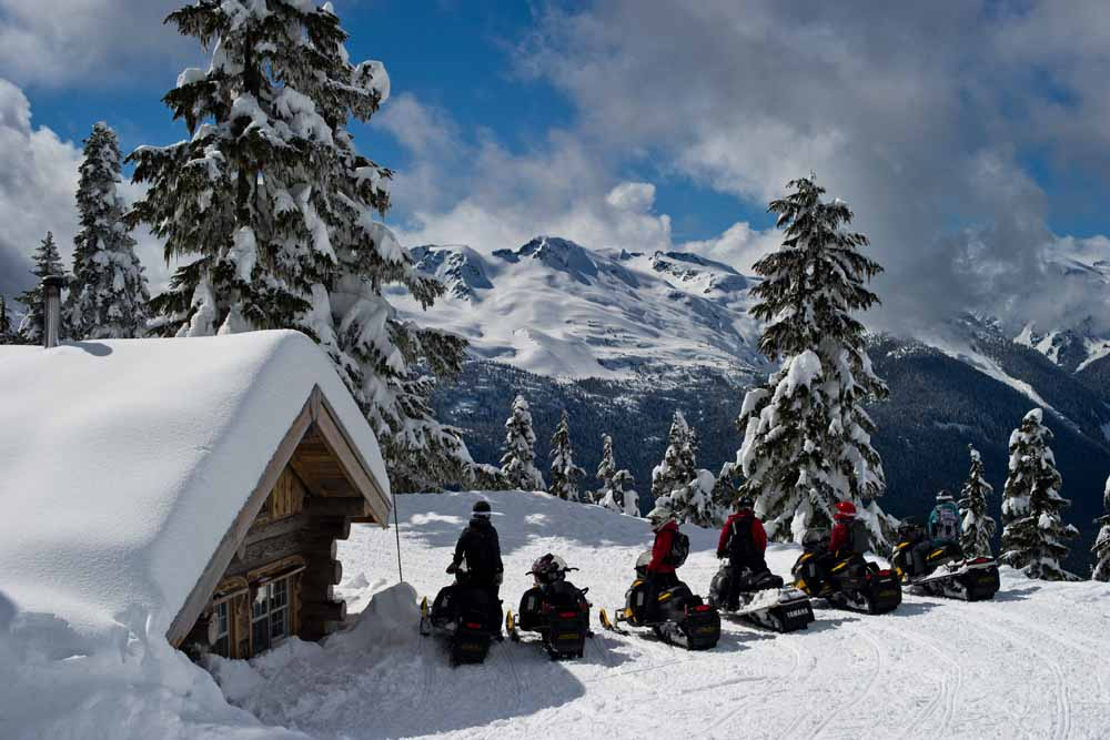 Whistler/Snowmobiling/Gruppe