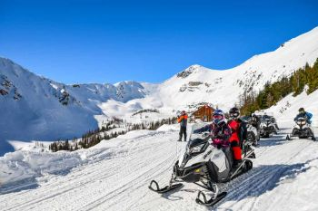 Panorama/Toby Creek/Snowmobiling Gruppe